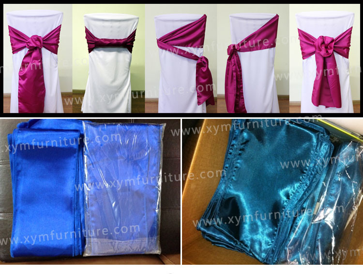 Brand New Many Colors Organza Sashes for Chairs (XYM-S25)