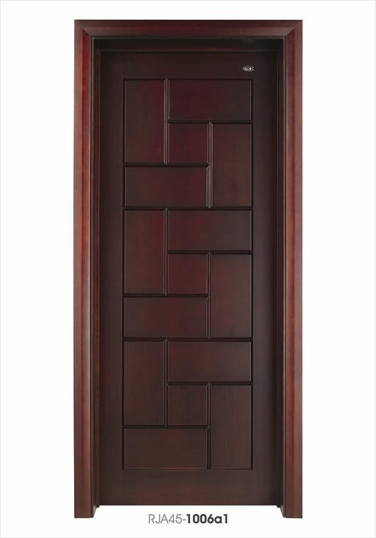 China interior bedroom wooden door composite doors design for Wood door design latest