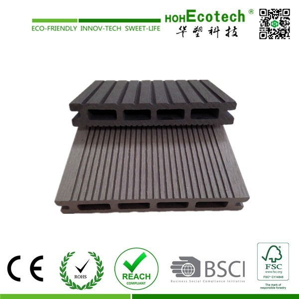 Eco-Friendly Waterproof Wood Plastic Composite Decking WPC Board