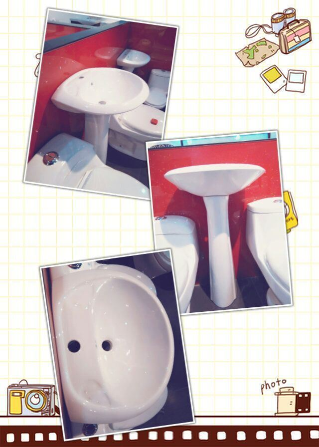 (20P03) Basin with Pedestal, Lavatory Basin