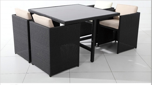 Outdoor Courtyard Garden Leisure Hotel Coffee Bar Dining Furniture with PE Rattan