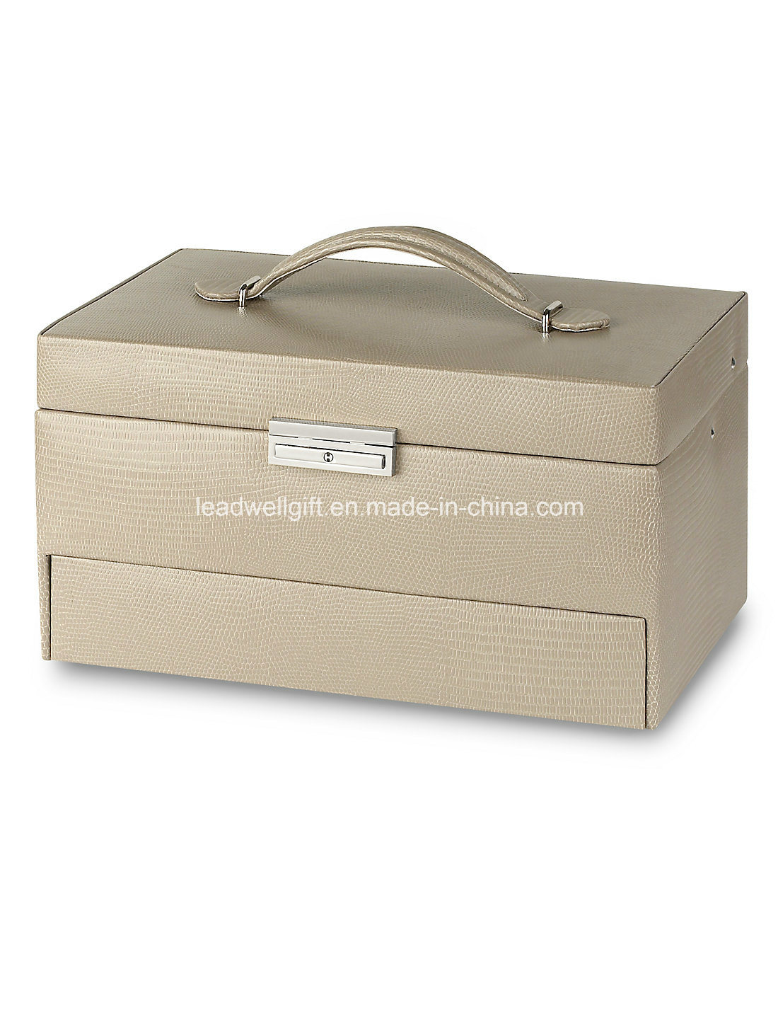 Large Rectangular Jewelry Box Storage Case