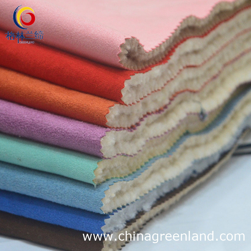 100%Polyester Berber Fleece Suede Fabric for Garment