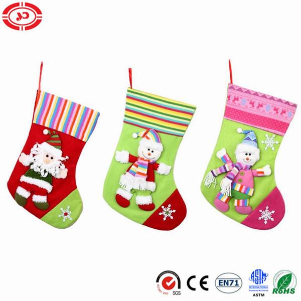 Merry Xmas Stocking Plush Felt Kids Gift with Snowman