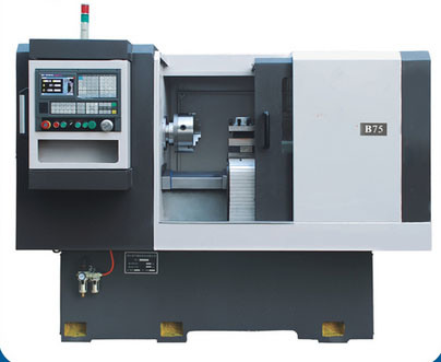 """B75 Large Spindle Bore 10"""" Chuck CNC Lathe Machine for Pipe Threading"""