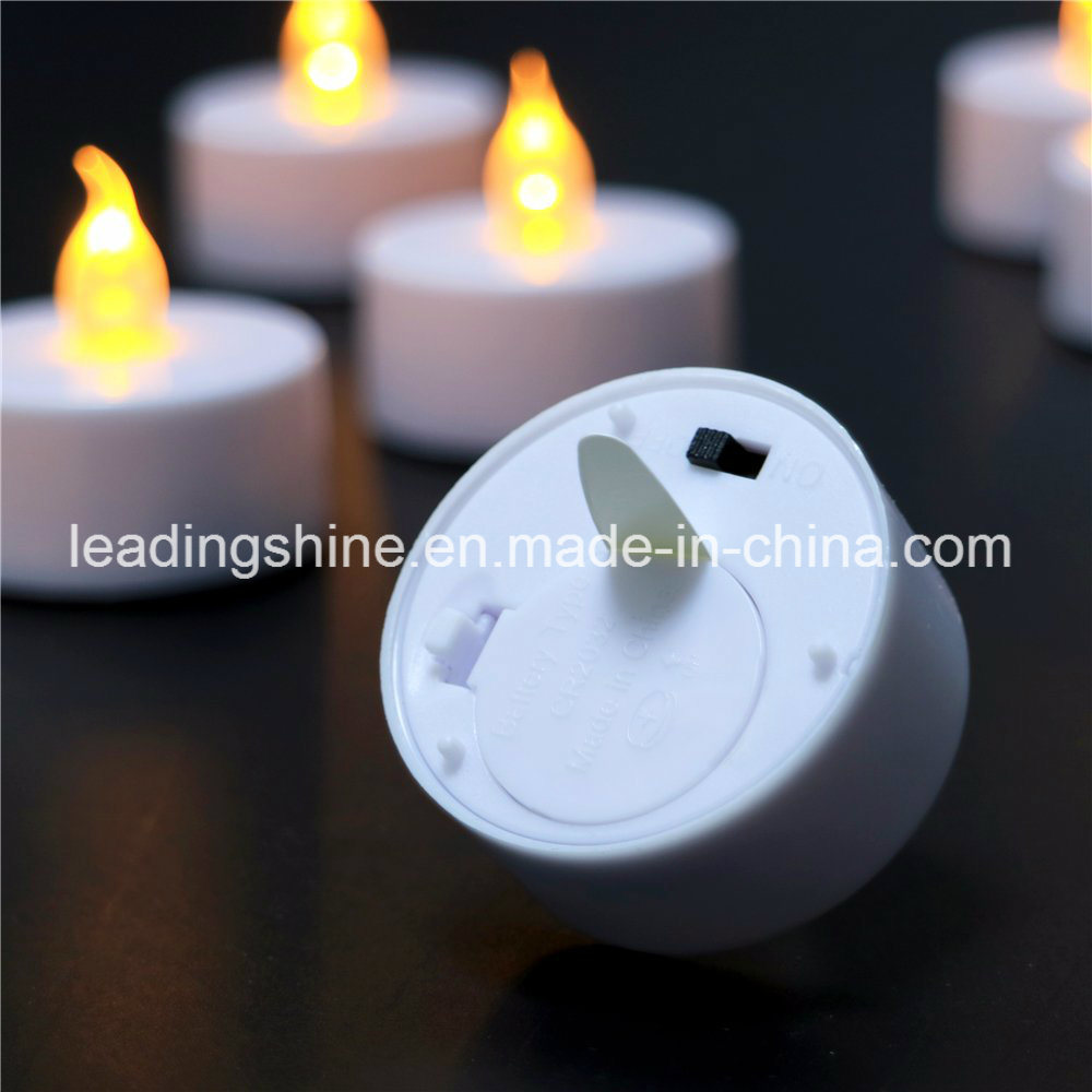 Wedding Decoration Dating Warm White Yellow Colorful Flameless Tea Candle Light