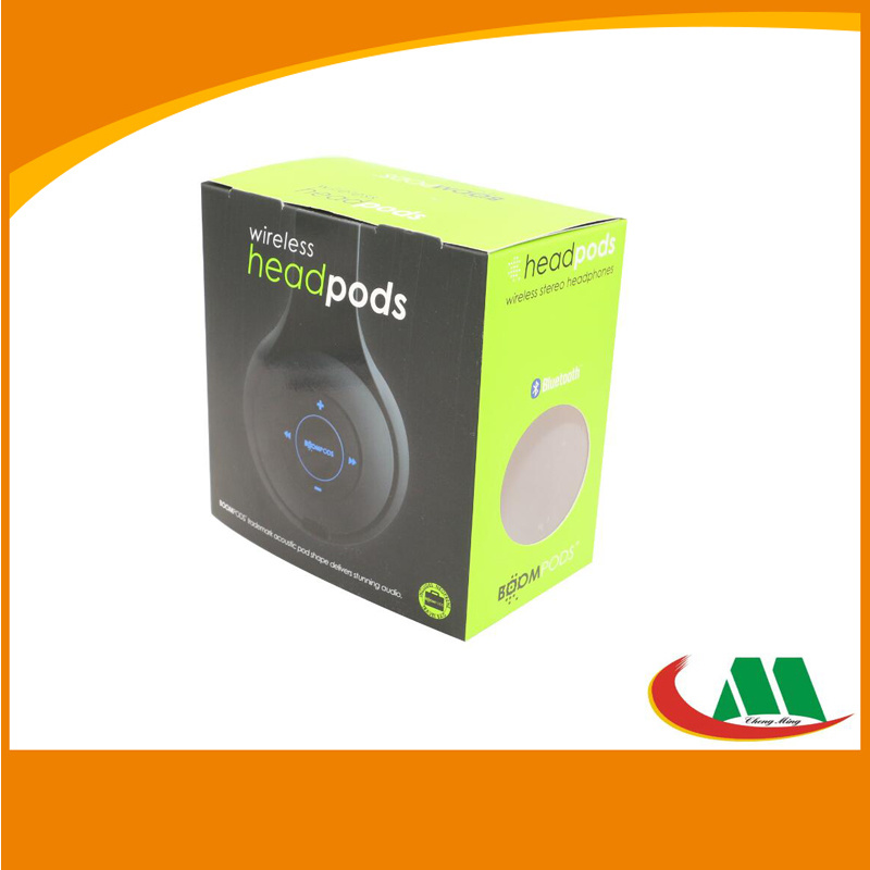 Custom Accept PVC PP PS Pet Plastic Electronic Packaging Folding Box for Headphone