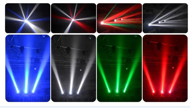 New Arrival 4X25W Beam White / RGBW 4in1 LED Moving Head Light