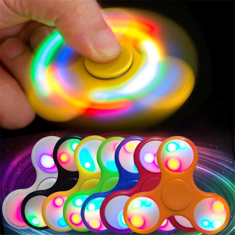 Hot Sale Tri-Spinner Fidget Toy EDC Hand Finger Fidget Spinner LED Hand Spinner