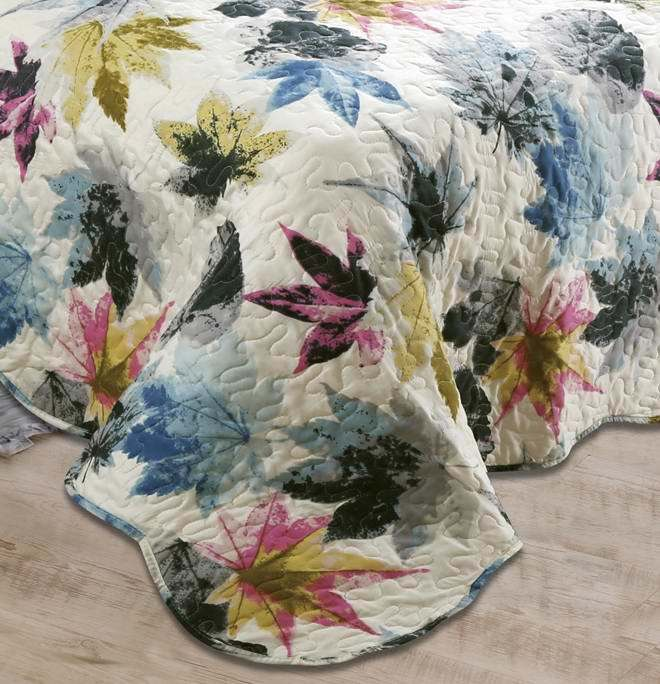 Printed Quilted Pigment Printing Microfiber Quilt/Bedding Set/Bedspread