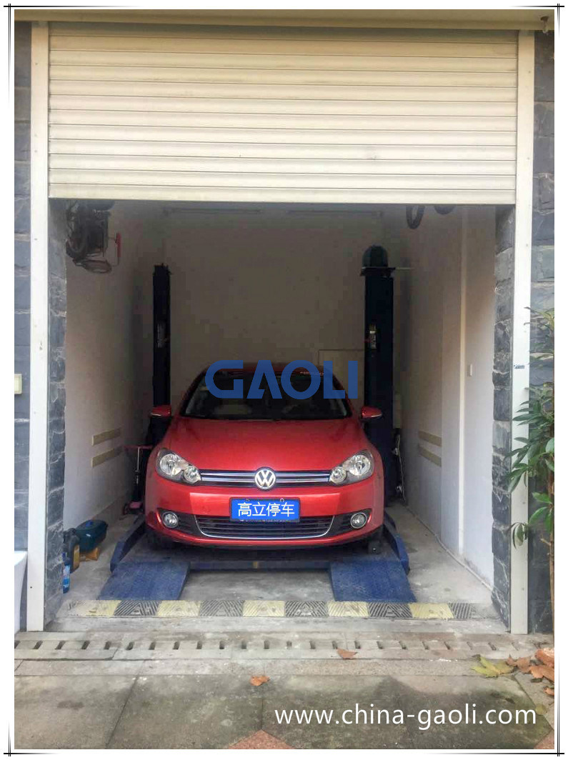 Gaoli Two Post Car Parking Lift for Home Use