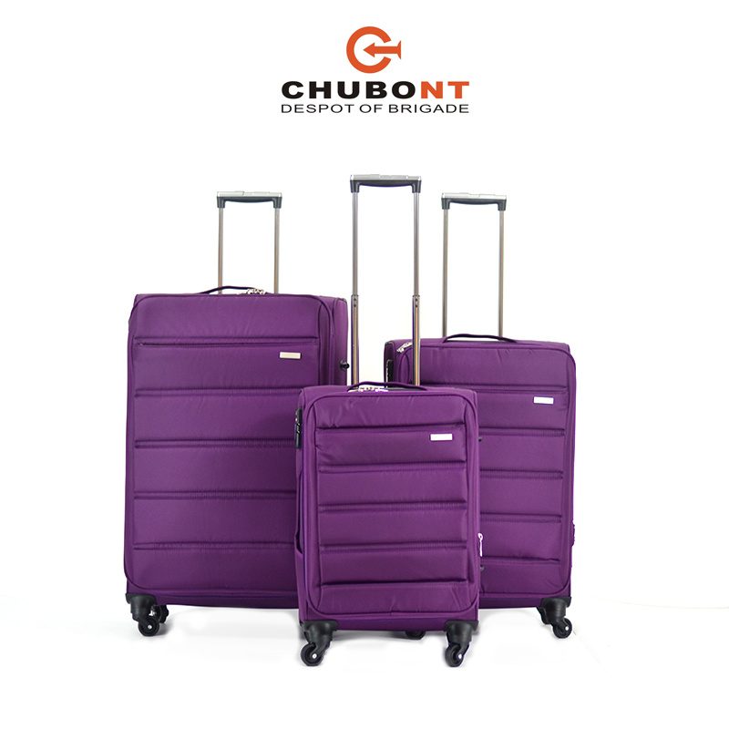 Chubont New Design 4 Wheels Double Zipper Soft Trolleycase