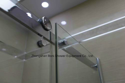 Shower Room 8mm Big Roller Sliding Door Shower Enclosure