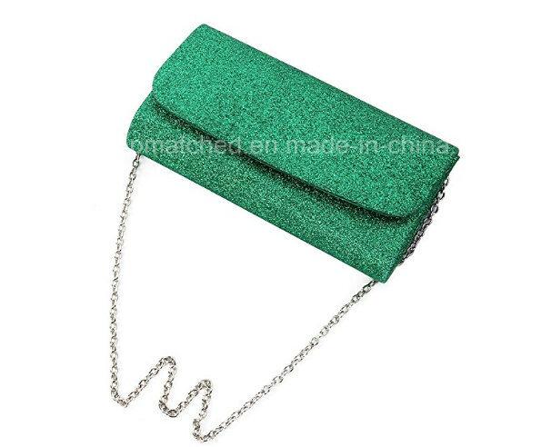 Low Price Ladies Pars Hand Ladies Wallet Small Metallic Glitter Flap Clutch Evening Bag Handbag