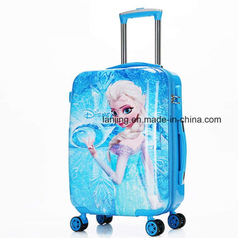 New Frozen Elsa & Anna Kid Rolling Luggage Travel Suitcase