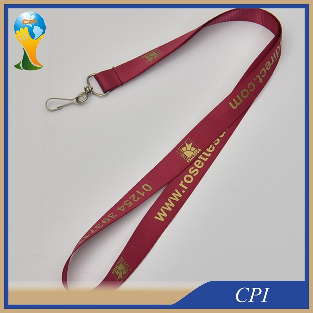 High Quality Printed Lanyard with Custom Logo, No MOQ
