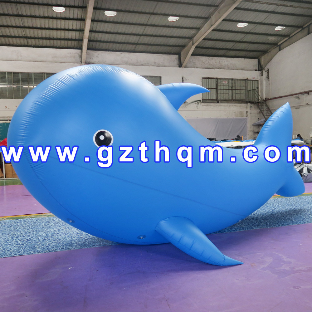 New Design Blue Inflatable Ocean Animal for Theme Park Decoration