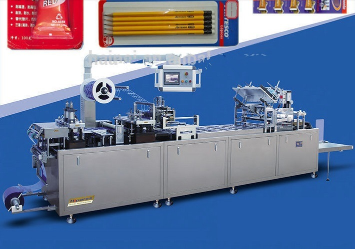 Qibo Design Auto Filling Auto Sealing Battery PVC Papercard Blister Packing Machine
