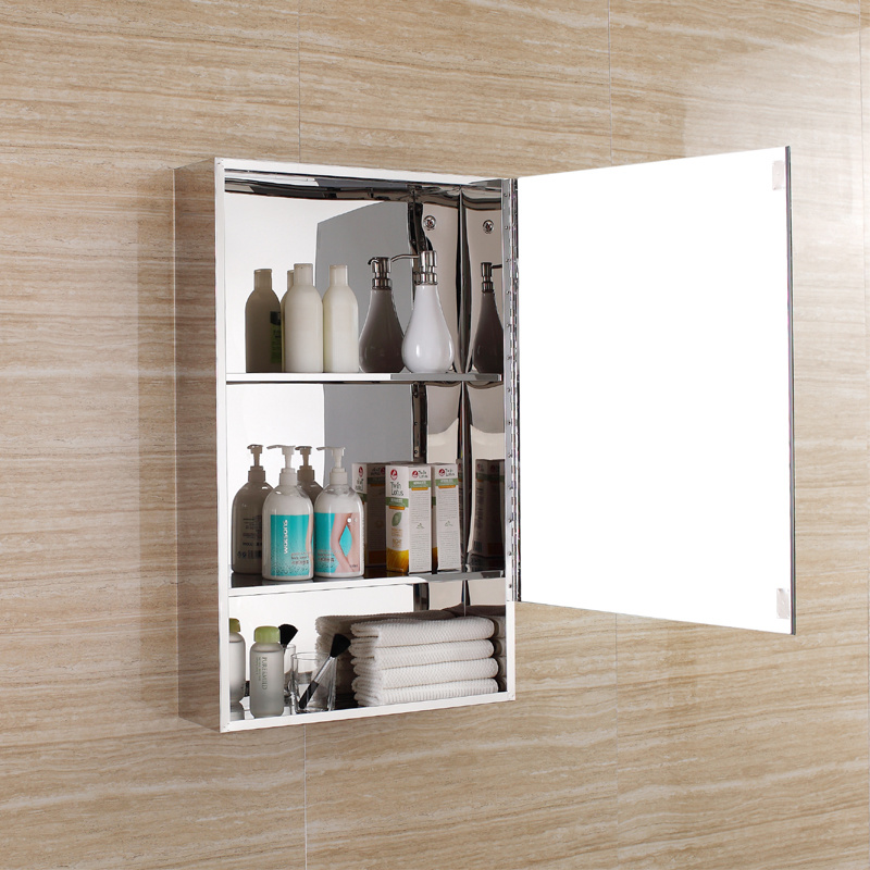 2017 European Design Stainless Steel Bathroom Mirror Cabinet (7092)