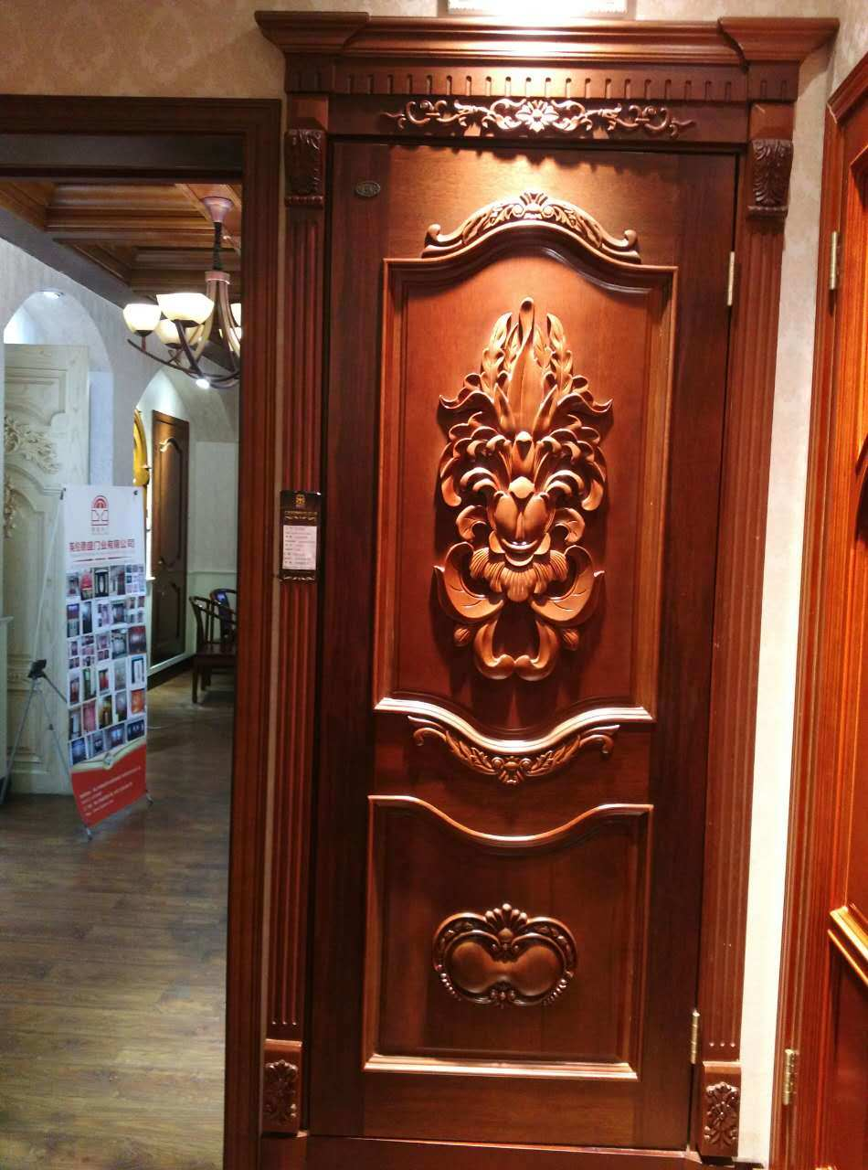 China Classic Style Decoration Swing Interior Door for Southeast Asia (F-026) - China Wooden Door Wood Door & China Classic Style Decoration Swing Interior Door for Southeast ...