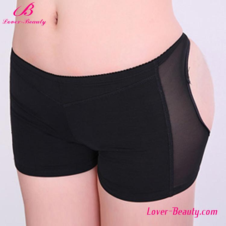 Sexy Black Translucent Low Waist Open Bottom Butt Lift Panties