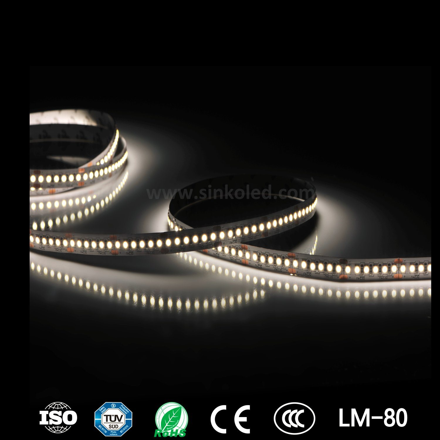 SMD2835 180LEDs/M 43W 100lm/W High Resolution Kitchen LED Strip Within Macadam 3 Step
