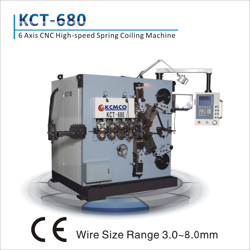 Kct-680 6 Axis CNC Spring Coiler &CNC 8mm Compression Spring Coiling Machine