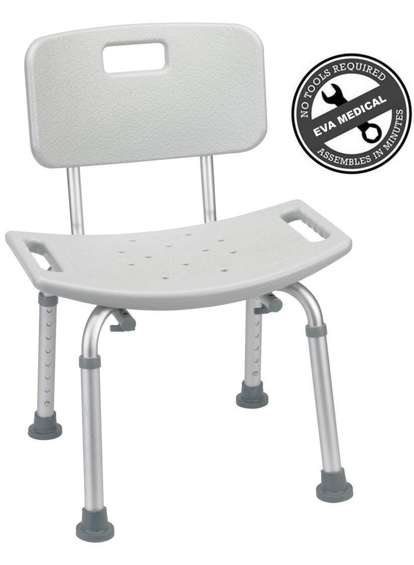 Portable Medical Aluminum Alloy Adjustable Folding Bath Shower Chair