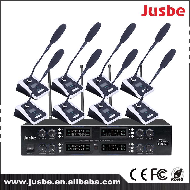 UHF 8 Way Karaoke Stage Singing Conference Karaoke Microphone Wireless Professional