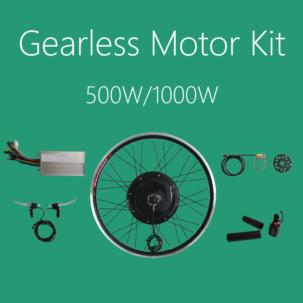 48V 1000W Gearless Motor Electric Bicycle Conversion Kits