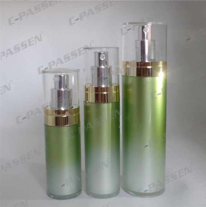 Luxury Green Acrylic Lotion Bottle for Cosmetic Packaging (PPC-NEW-070)