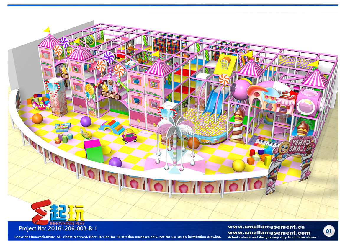 Candy Themed Indoor Playground with High Quality