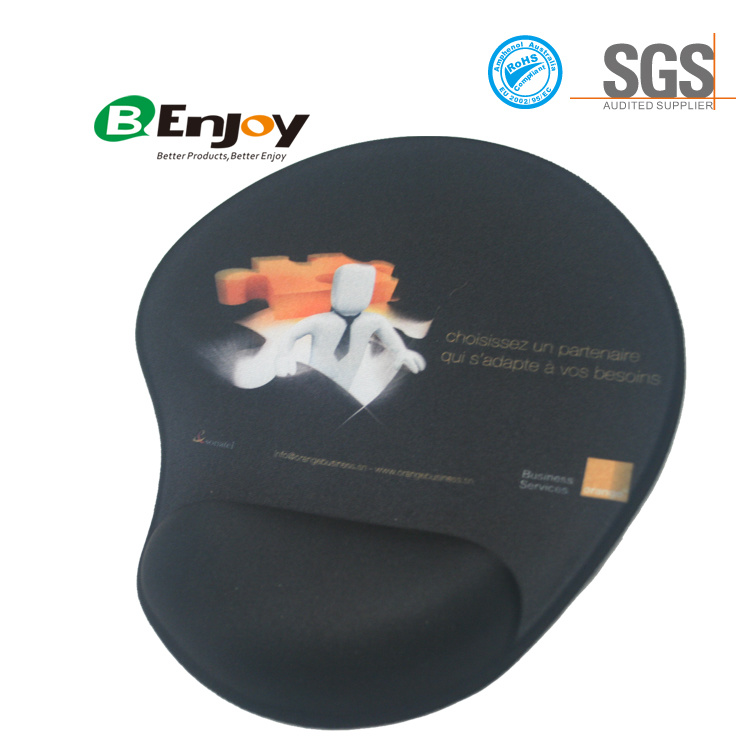 Promotion Gift Wrist Rest Mouse Pad with Custom Design