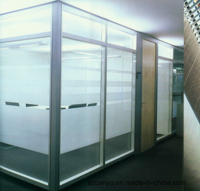 Single Glass Wall Aluminium Office Partition