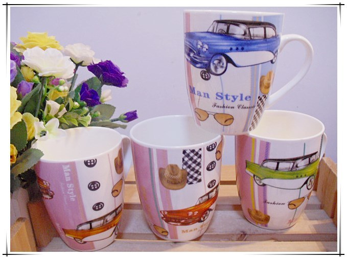 Sample China Flower Ceramic Mugs for Milk Cup