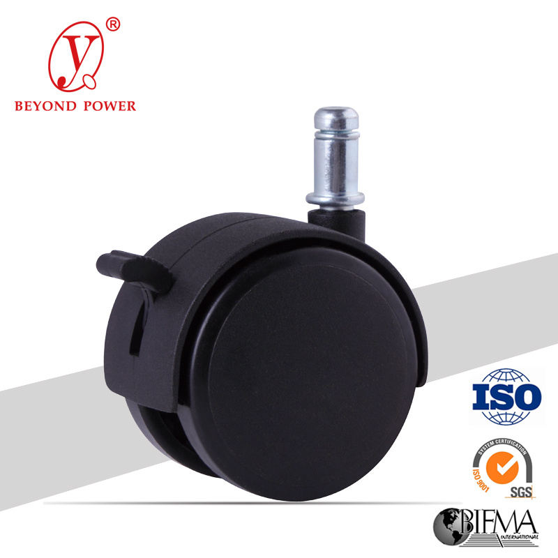 60mm Nylon Office Chair Wheel Castor   Casters Furniture Caster Wheel Factory Chair Caster