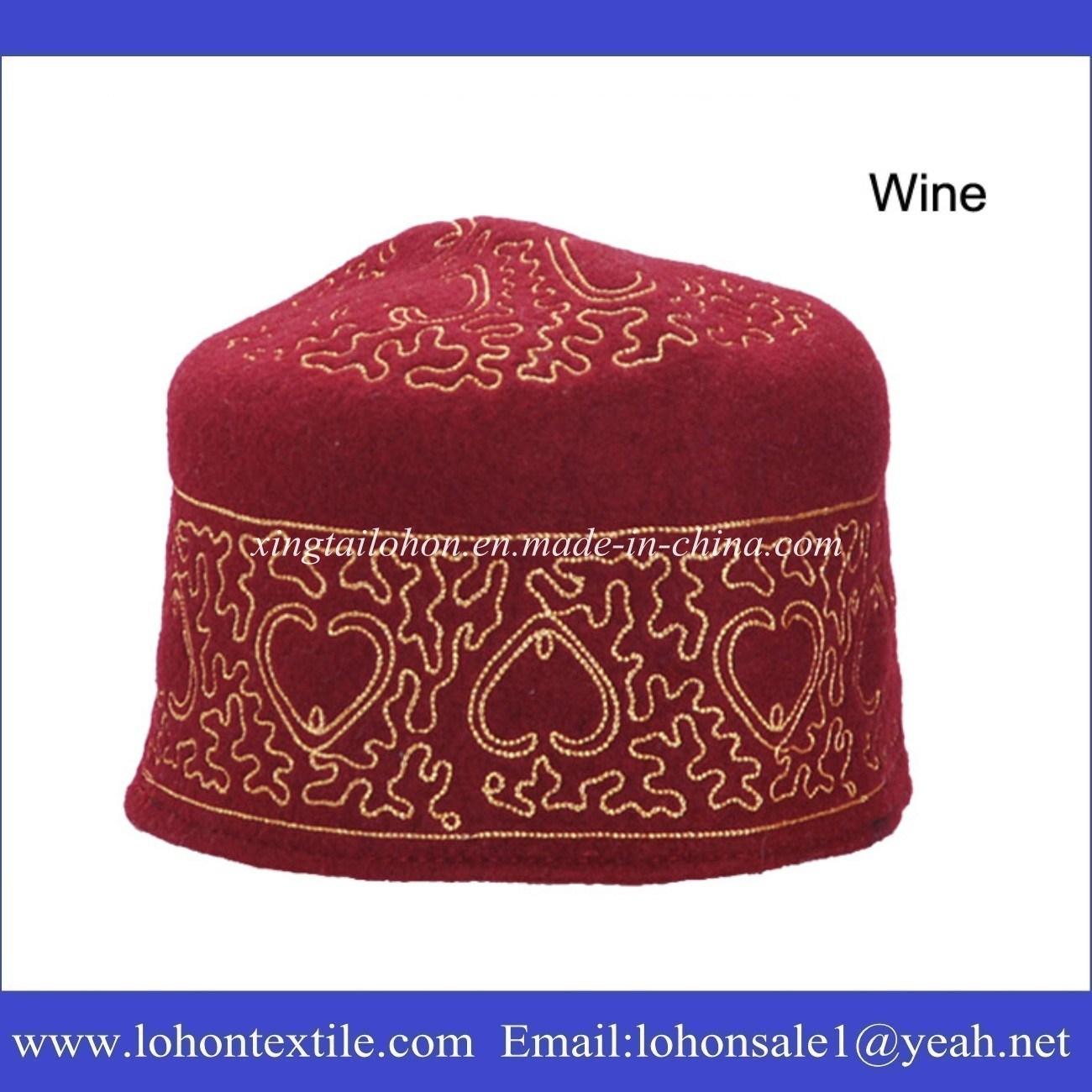 Muslim Prayer Hat Muslim Cap Wool Cap for Middle Eastern Man