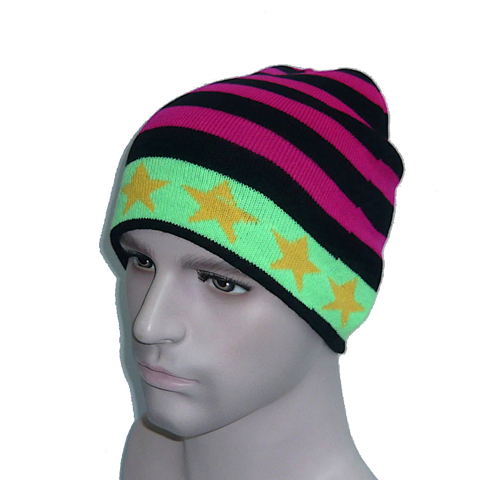 Multicolor High Quality Pentagram Knitted Hat