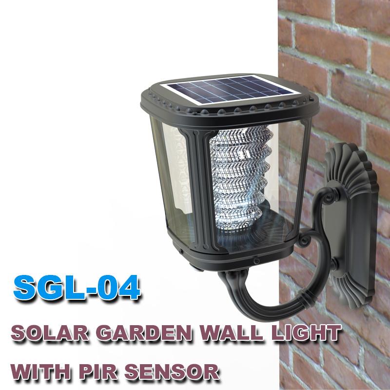 Integrated Solar Garden LED Outdoor Wall Light Solar Product Factory