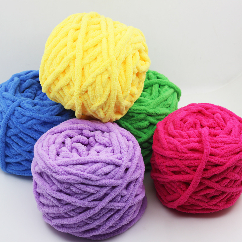Fancy Space Dyed Polyester Acrylic Microfiber Chenille Cashmere Knit Yarn