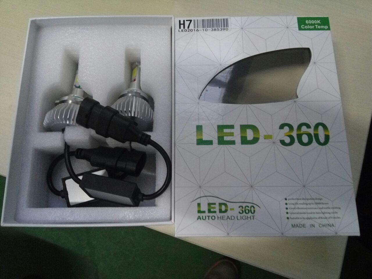 Factory Newest H11 Fanless LED Headlight 30W 3800lm 6200k