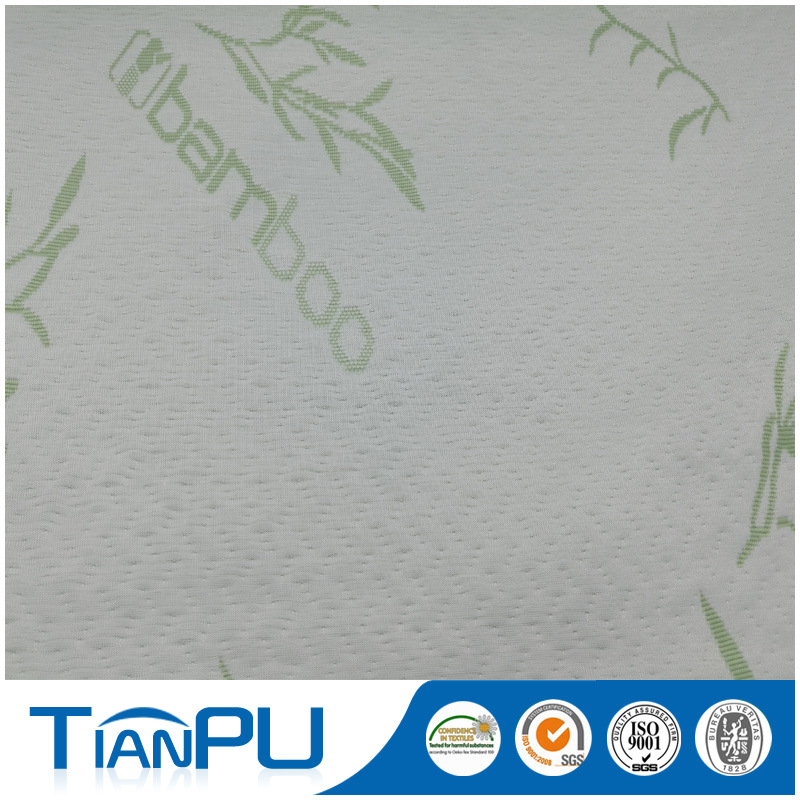 Green Jacquard Customized Design Mattress Ticking Fabrics