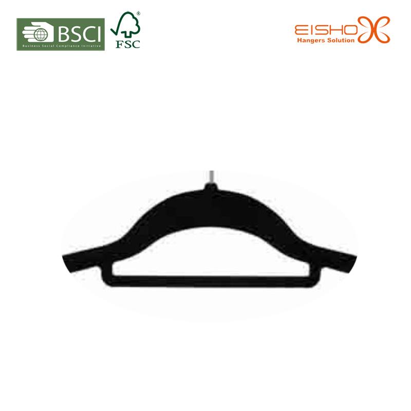 Space Saving Non-Slip Black Velvet Clothes Hanger for Closet (TSCY0014)