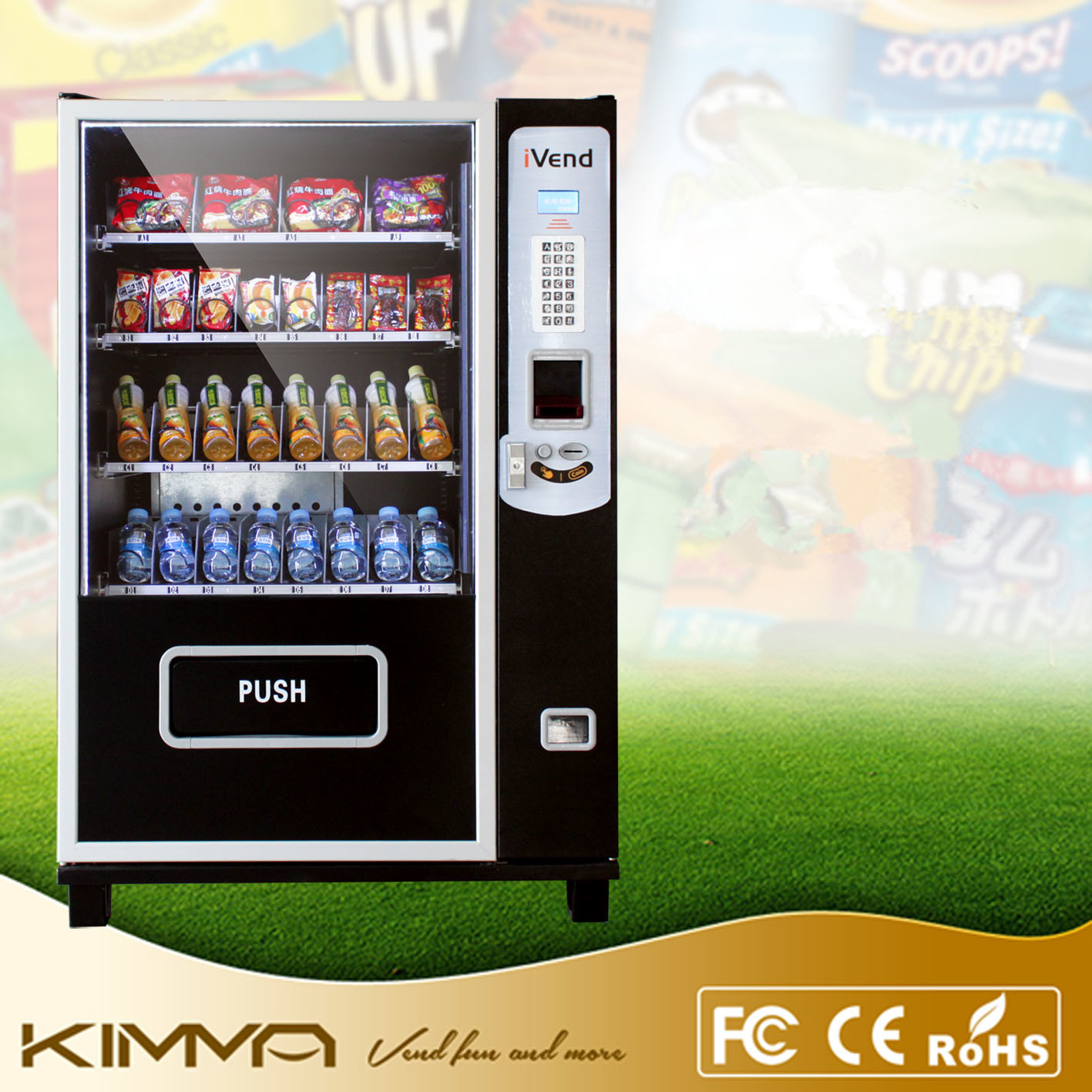 Mini Vending Machine for Small Location Operated by Bill Notes