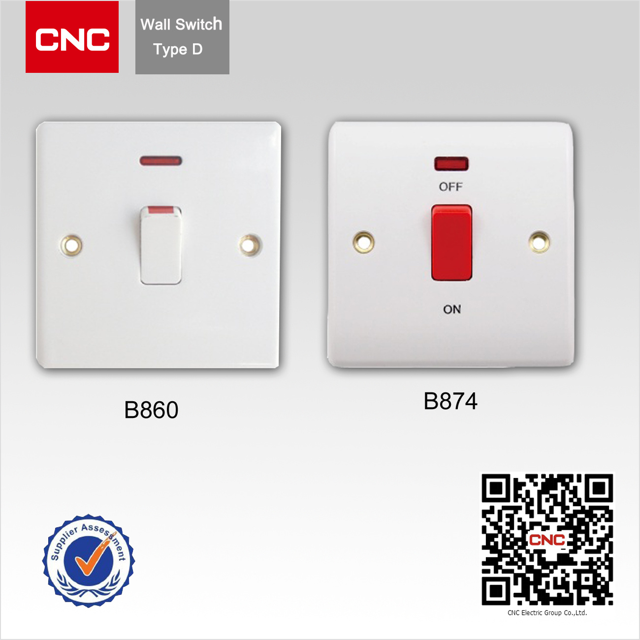 British Standard One Gang 25A Dp Wall Switch