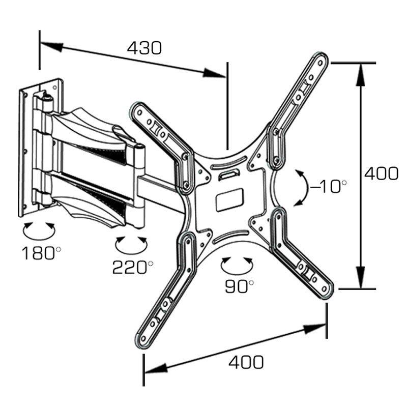 Full-Motion Mount Fit for 21-55′′ Plasma / LCD TV