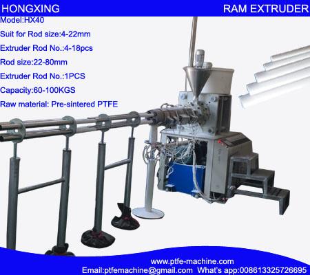 Horizontal RAM Extrusion Machine for PTFE Rod
