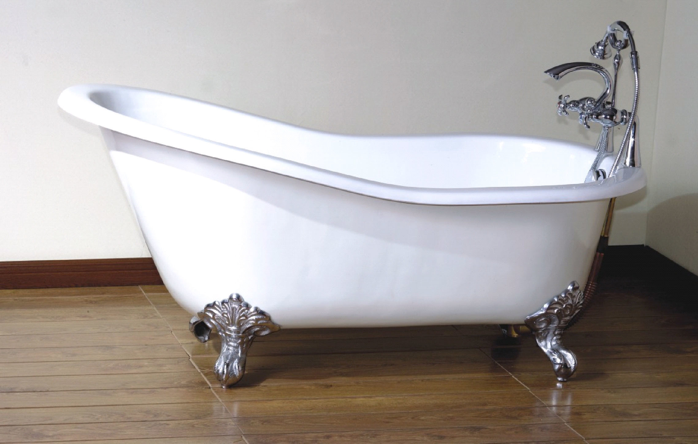 China cast iron bathtub yt88 china cast iron bathtub for Claw foot soaker tub