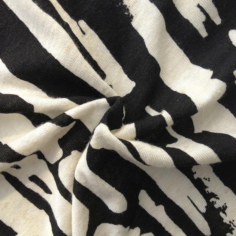 Linen/Rayon Printed Knitting Jersey (QF13-0284)