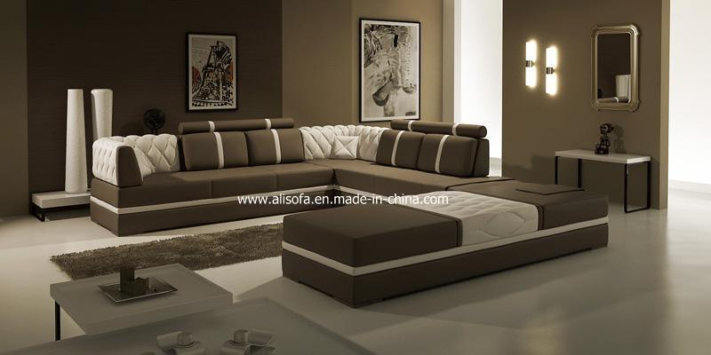 China modern style leather corner sofa fx42 china for Chaise 5013